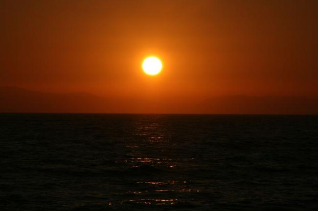 Magnificent sunset in the Ionian Sea