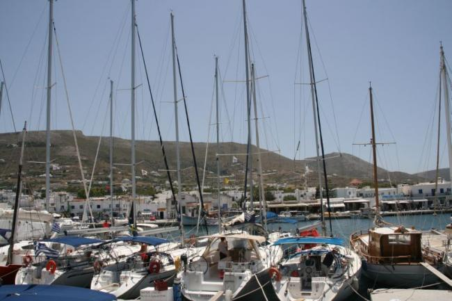Staying in the port of Paros