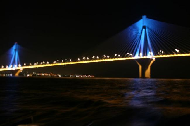 The famous bridge Rio - Antirio