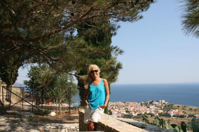 Walking along Samos island