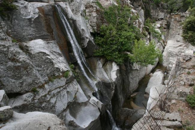 Waterfalls of Ikaria island