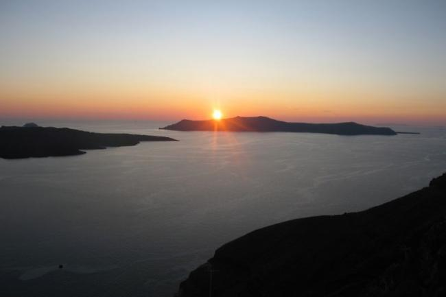 What could be more beautiful than one more sunset in Santorini?